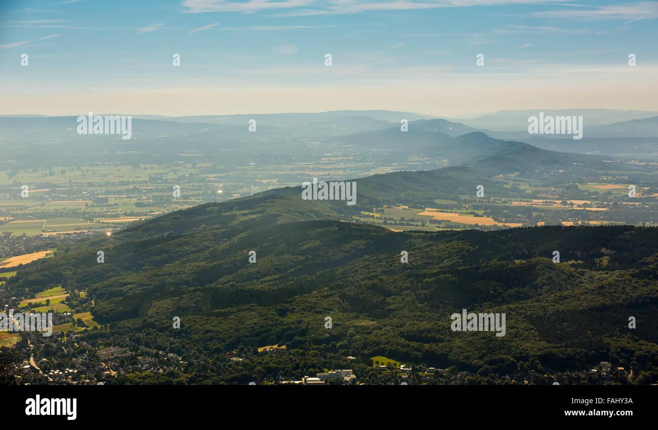Vue aérienne, Norvège vu de Lübbecke, Highlands, Rhénanie du Nord-Westphalie, Allemagne, Europe, vue aérienne, les oiseaux-lunettes de vue, Banque D'Images