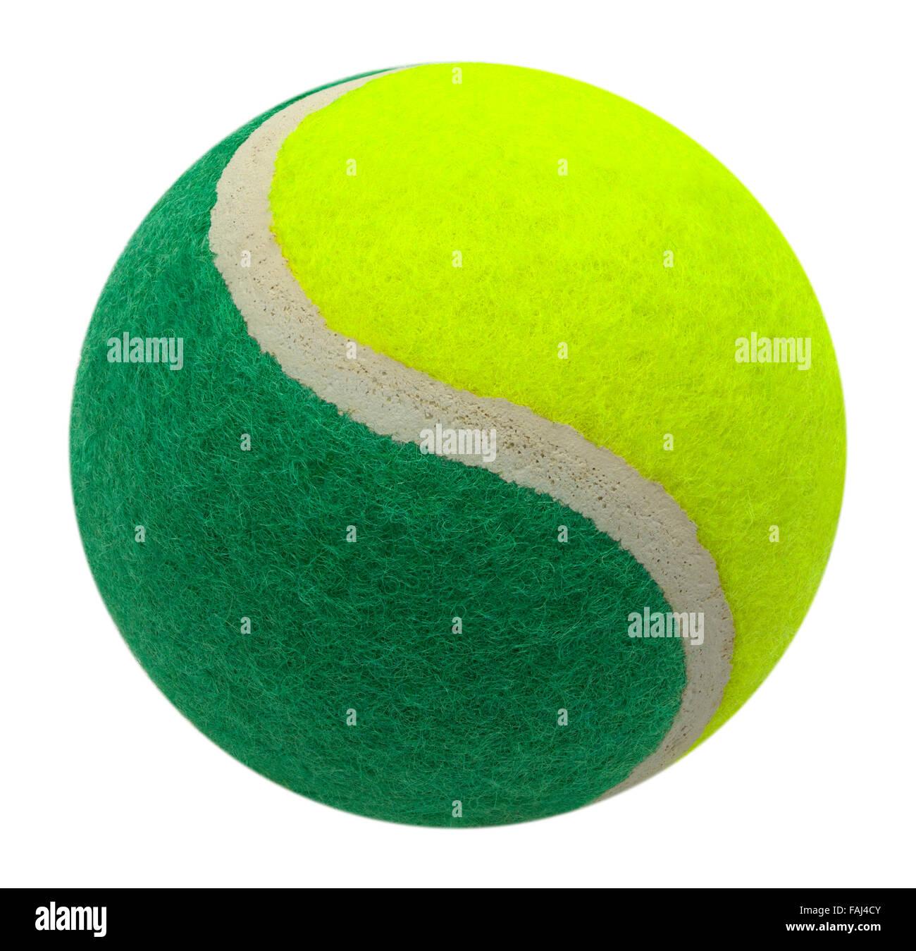 e0299ec21e270 Bicolore Vert et Jaune Balle de Tennis isolé sur un fond blanc ...