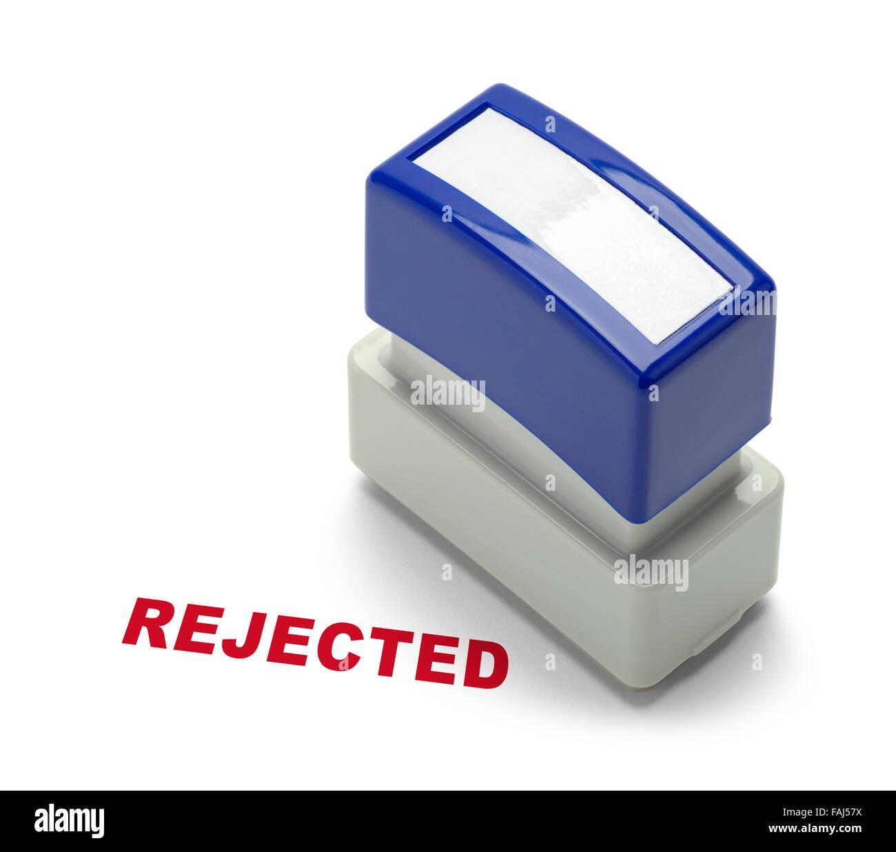 Office a rejeté Stamper isolé sur un fond blanc. Photo Stock