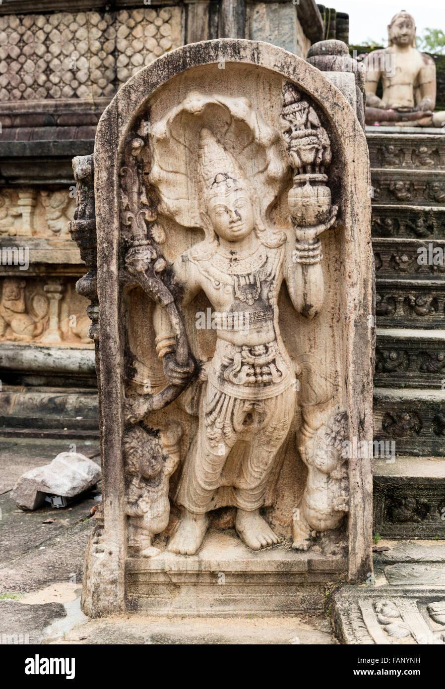 Secours Guardian, Vatadage, Polonnaruwa, Sri Lanka Photo Stock