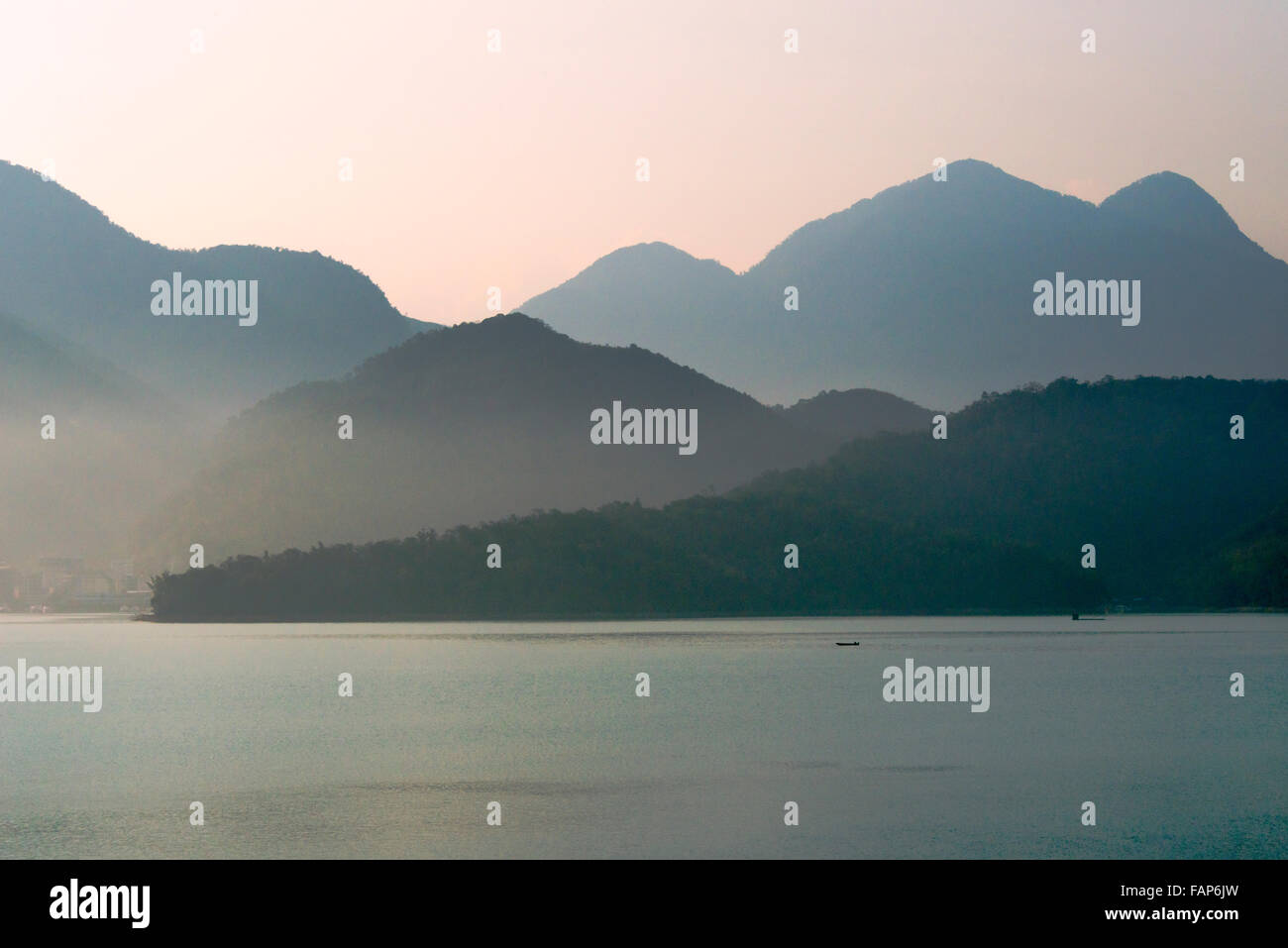 Paysage de Sun Moon Lake, Taiwan Photo Stock