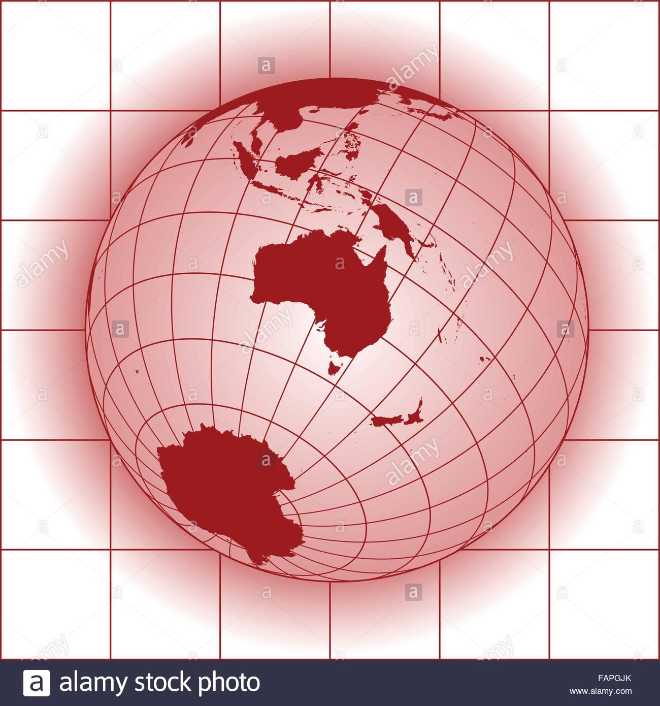 Carte Russie Australie.Carte De L Australie L Asie La Russie L Antarctique Pole