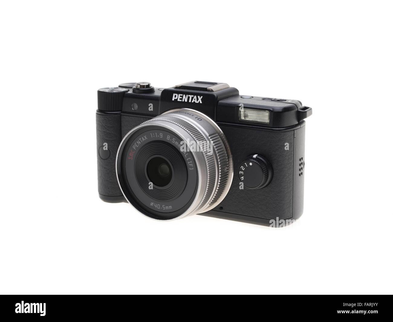 Pentax q'un minuscule mirrorless interchangeable-lens camera numérique introduit en 2011 Banque D'Images