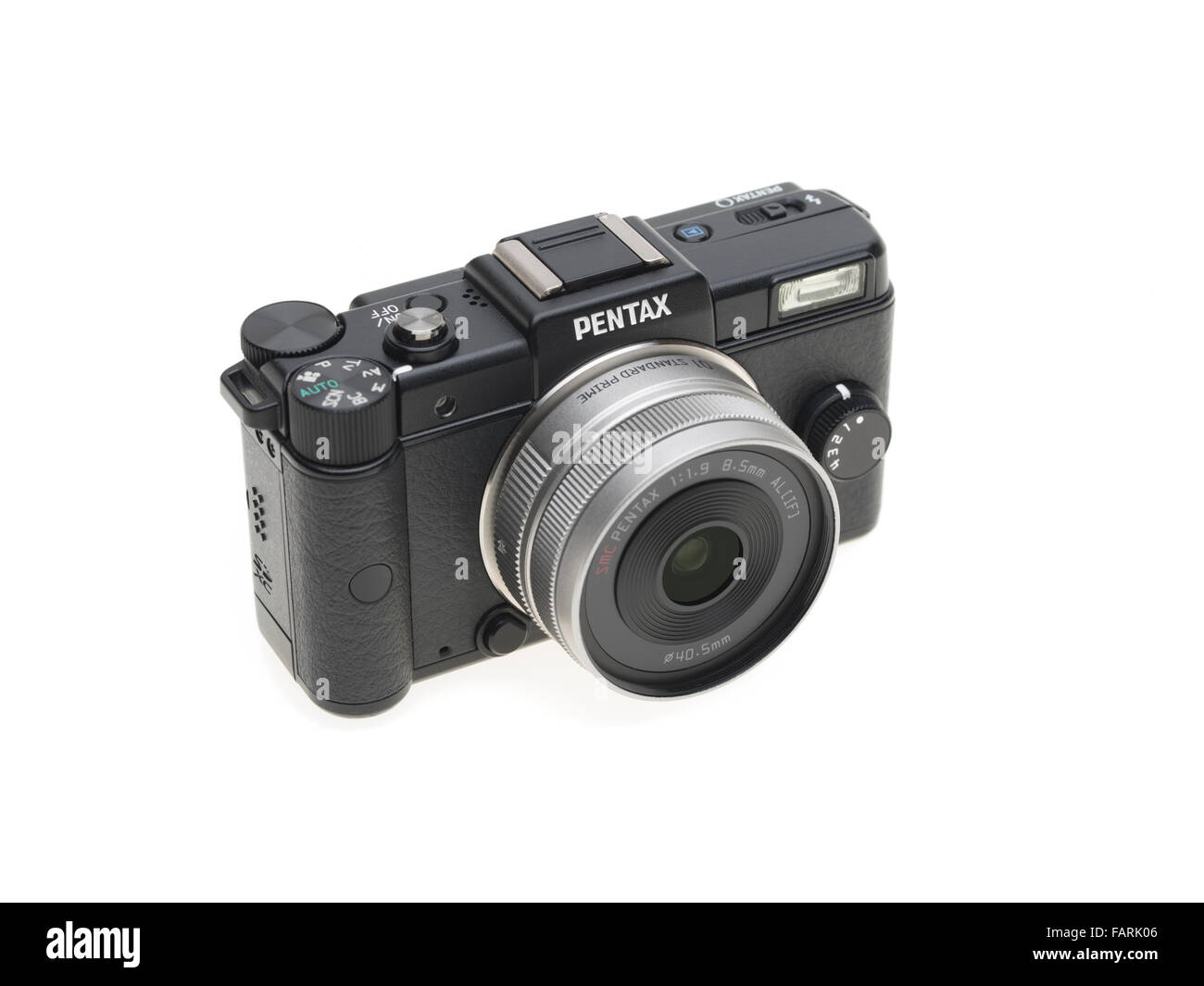 Pentax q'un minuscule mirrorless interchangeable-lens camera numérique introduit en 2011 Banque D'Images