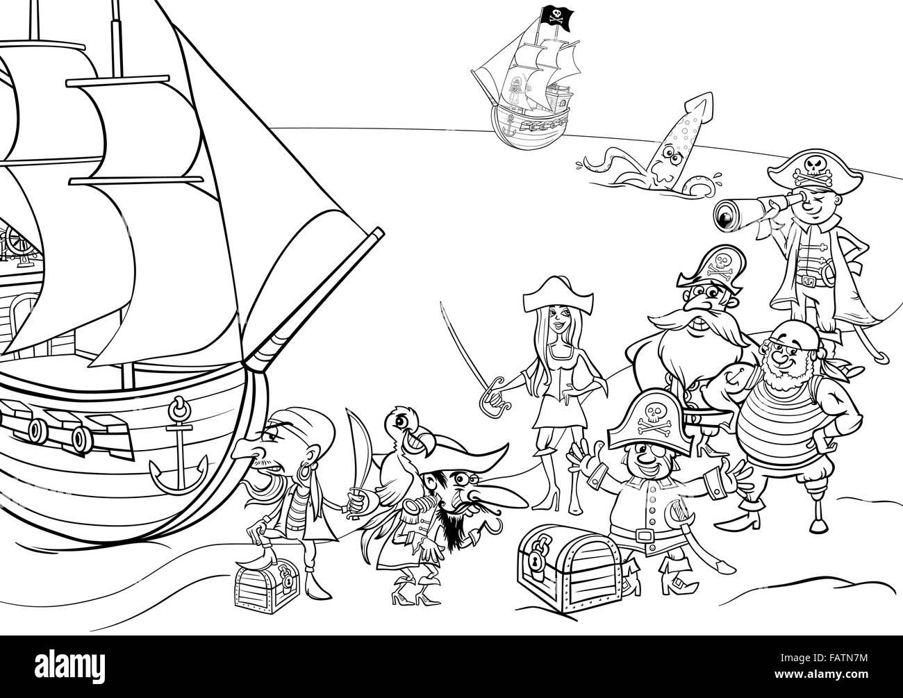 Dessin Anime En Noir Et Blanc Illustrations De Fantasy Personnages
