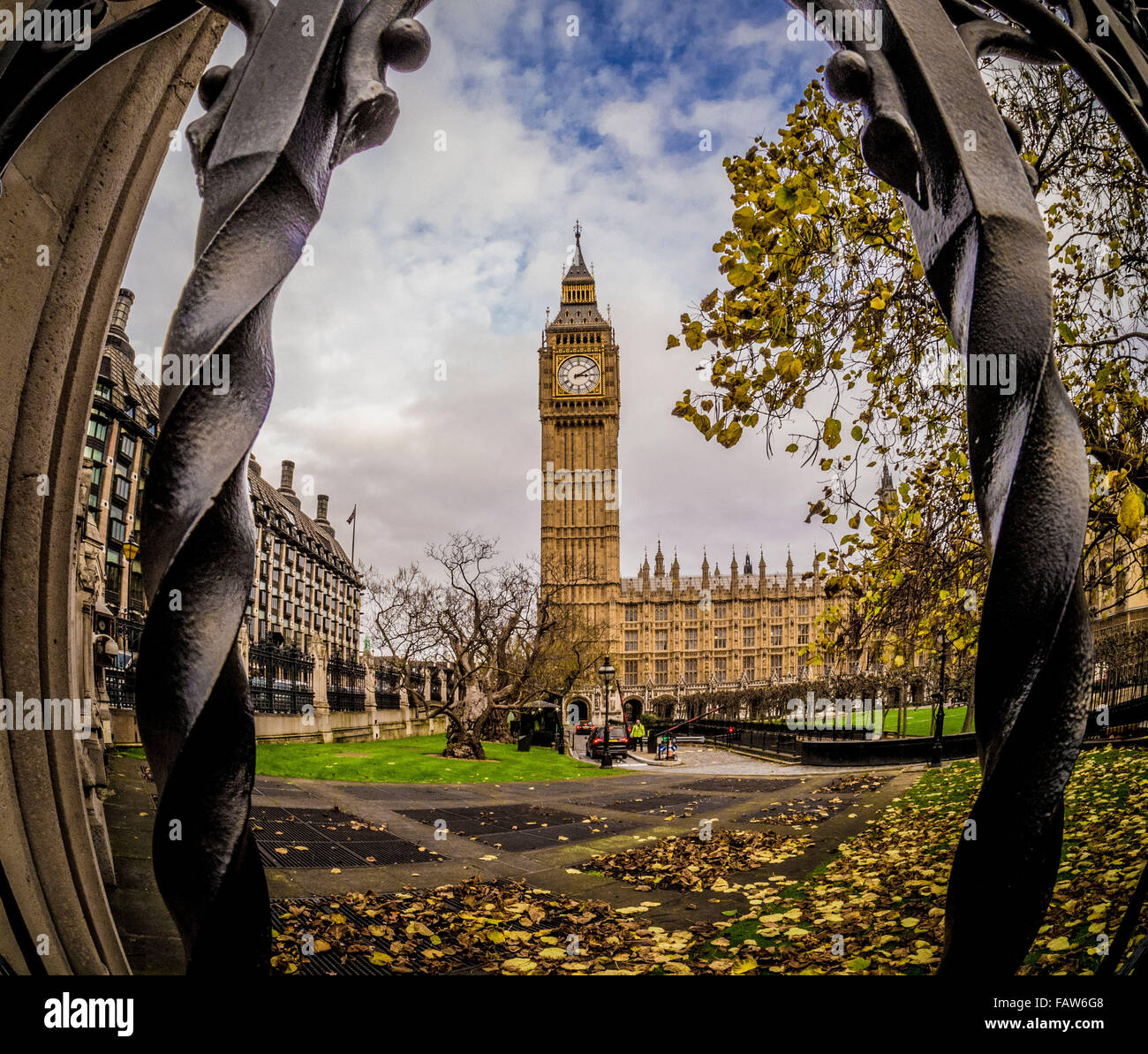 Big Ben et les chambres du Parlement, Londres, Royaume-Uni. Photo Stock