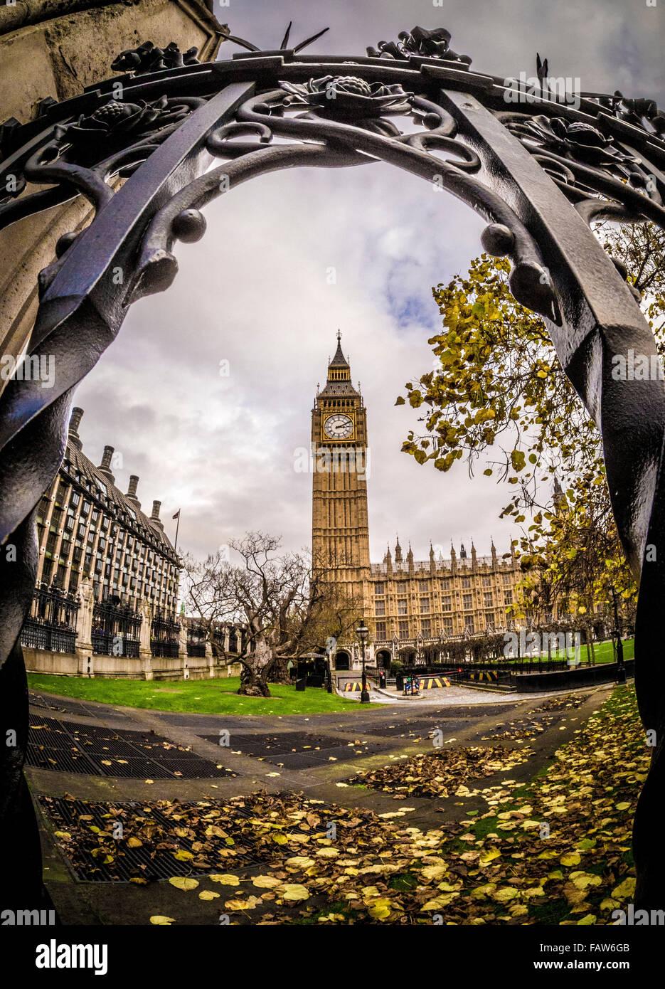 Big Ben et les chambres du Parlement, Londres, Royaume-Uni. Photo Stock