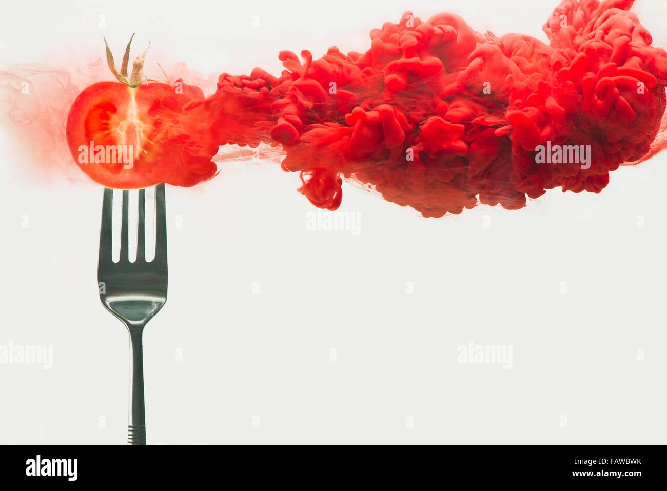 Tomate désintégré Photo Stock