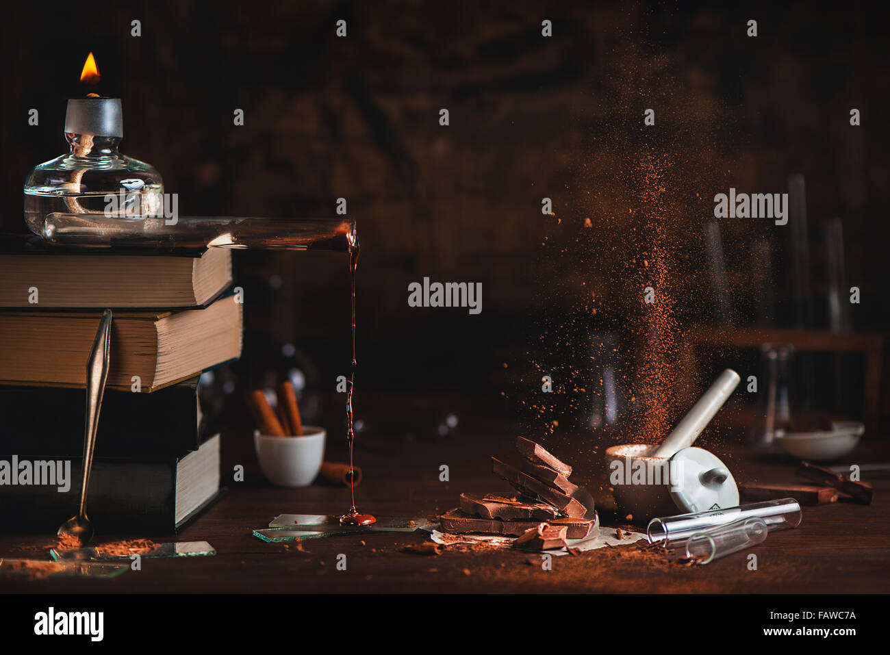 Phases de chocolat Photo Stock
