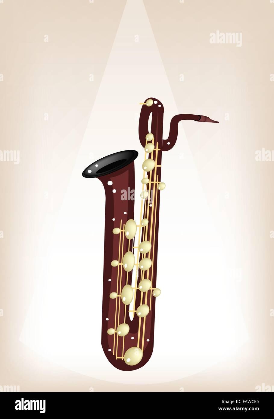 instrument de musique, une illustration couleur brun doré de