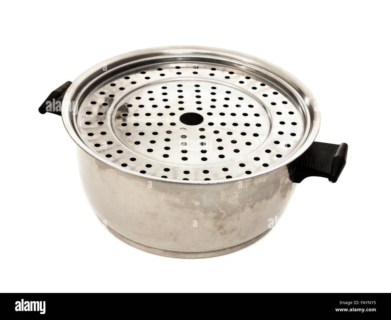 Rena-ware' sans eau 'outils de cuisson en acier inoxydable. Photo Stock