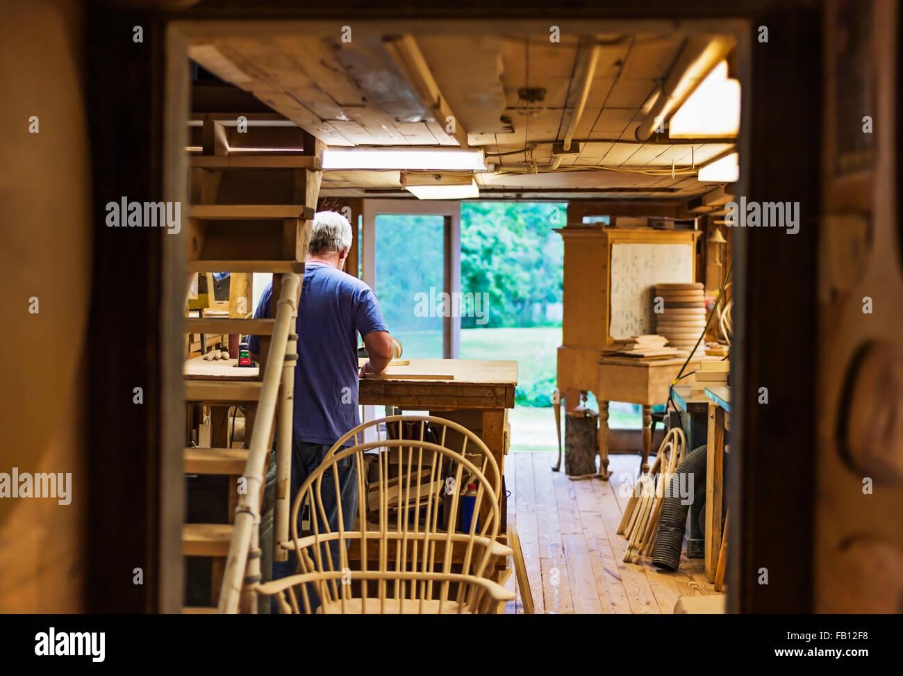 Atelier de menuiserie Photo Stock