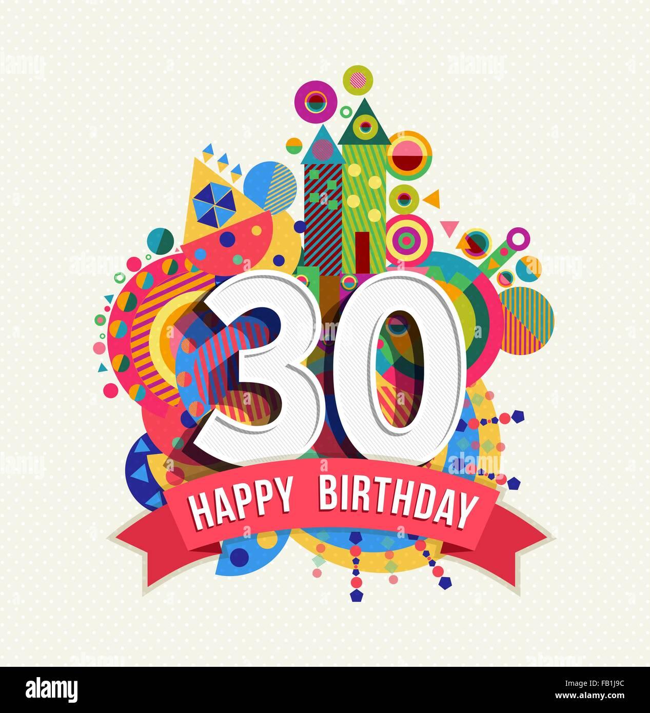 Joyeux Anniversaire Trente 30 Ans Célébration Amusante Carte De