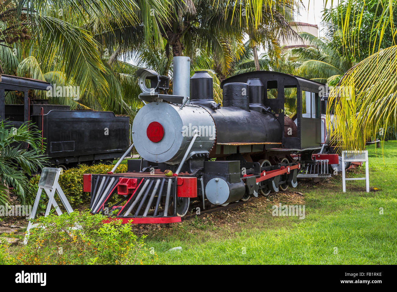 Locomotives à vapeur nostalgique, Marcelo Salado, Musée du sucre, Caibarién Remedios, Cuba Photo Stock