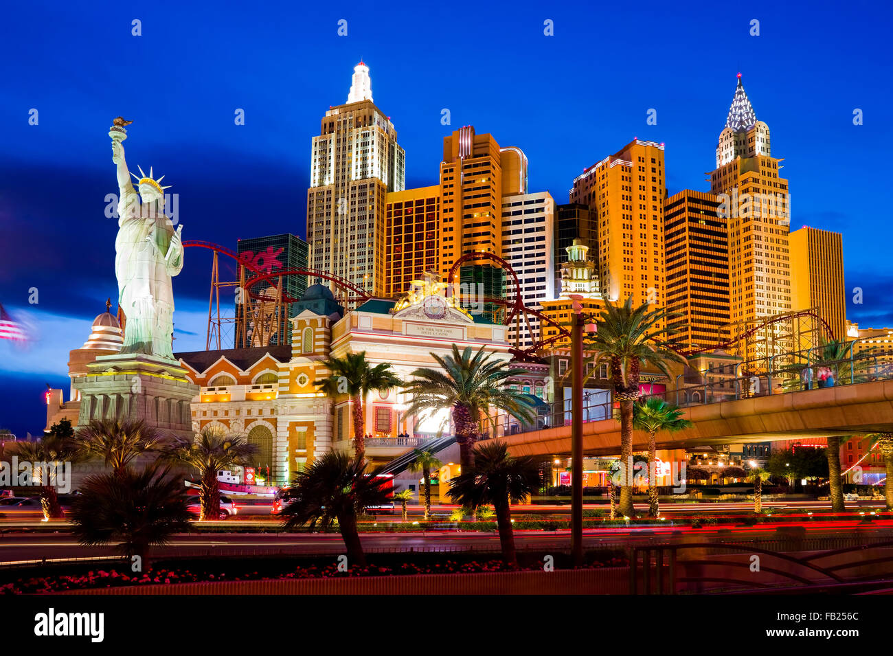 Strip de Las Vegas de nuit Photo Stock