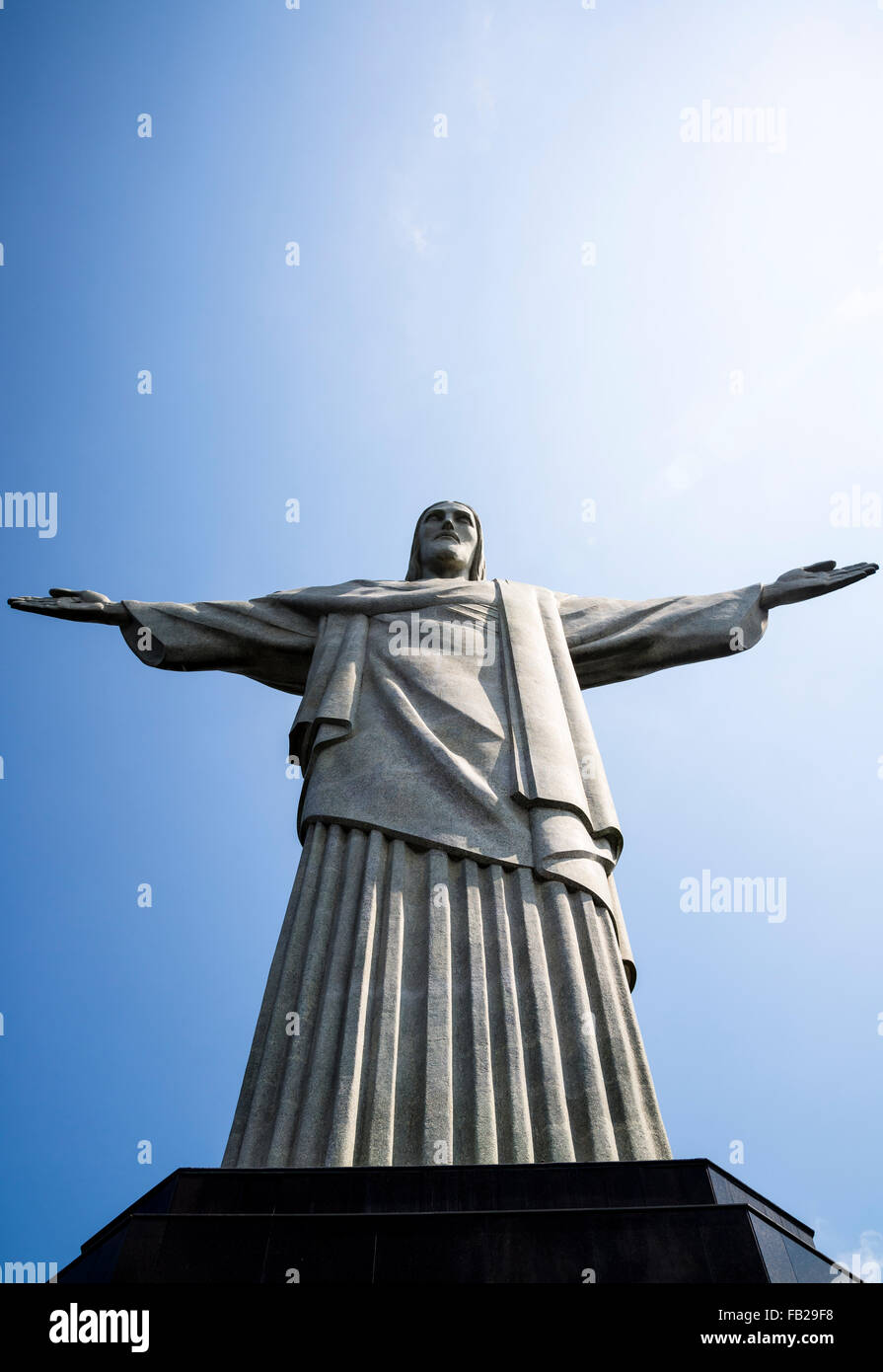 Statue du Christ Rédempteur, Rio de Janeiro, Brésil Banque D'Images