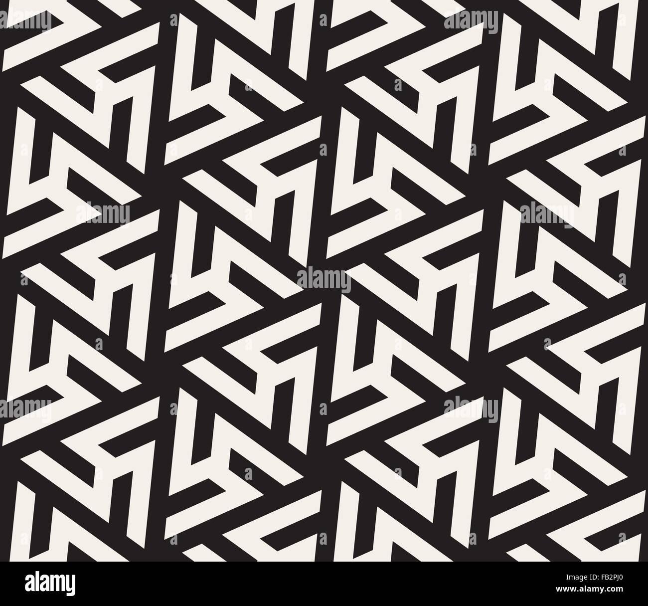 Seamless Vector Noir Et Blanc En Forme De Triangle Motif Geometrique Carrelage Image Vectorielle Stock Alamy
