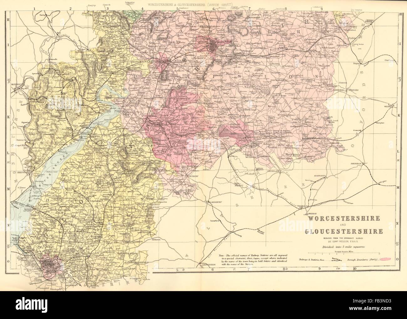Carte Angleterre Gloucester.Gloucestershire Map Photos Gloucestershire Map Images Alamy