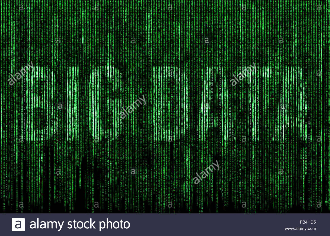 Big Data - matrice numérique Photo Stock