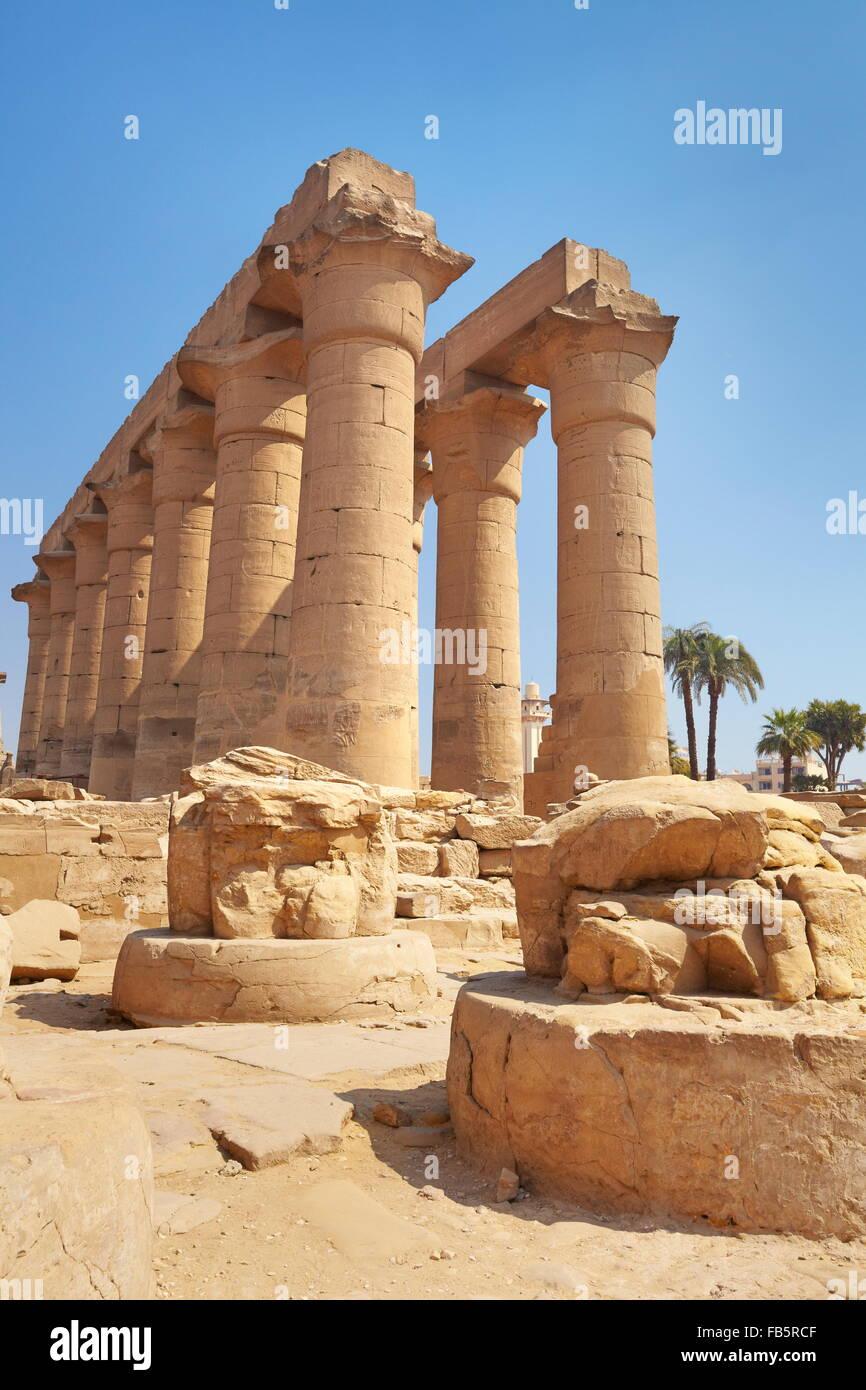 Egypte - temple de Louxor Banque D'Images