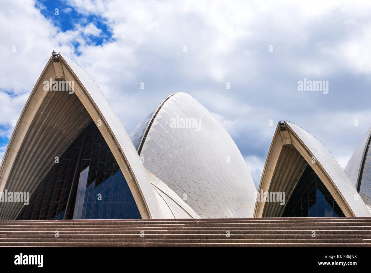 L'Australie, Sydney, des détails architecturaux de l'Opéra Banque D'Images
