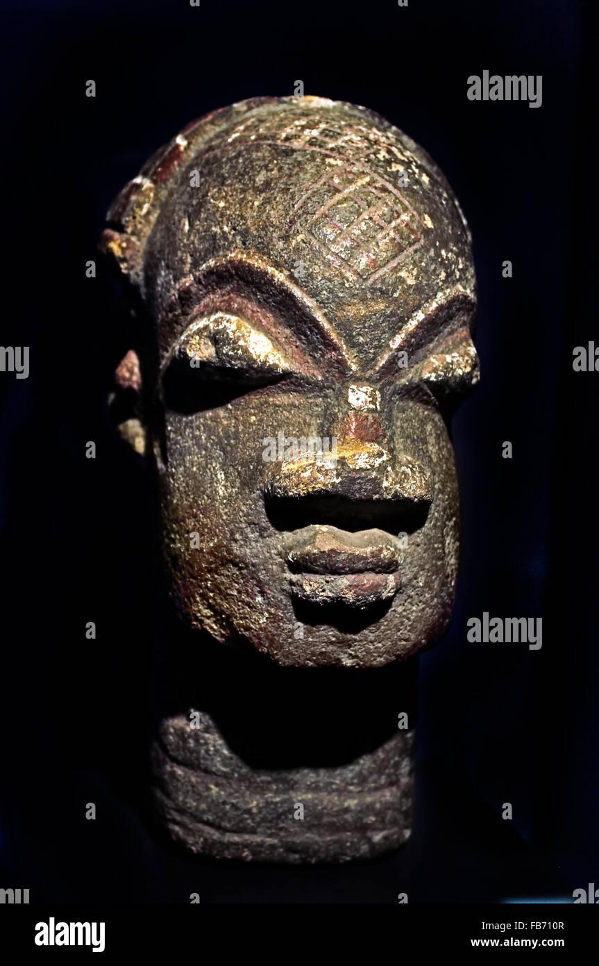 Dogon (Mali) tête 20e siècle de l'Afrique de l'Afrique Photo Stock