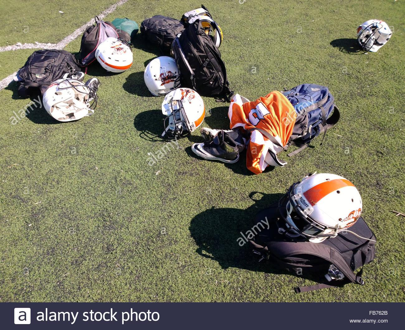 NEW YORK: un match de football américain sur un Satday dans MC Anyi Brooklyn Park Photo Stock