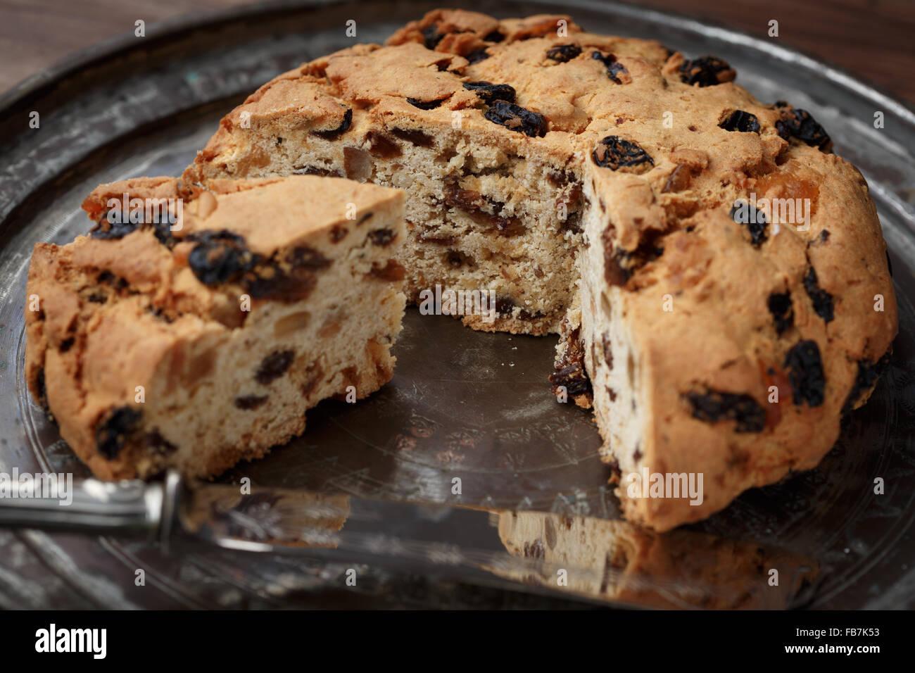 Gênes Pandolce Genovese (gâteau) Photo Stock
