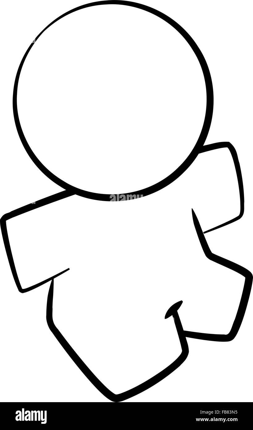Le Dessin Des Lignes Dune Simple Caricature Personne Vecteurs Et
