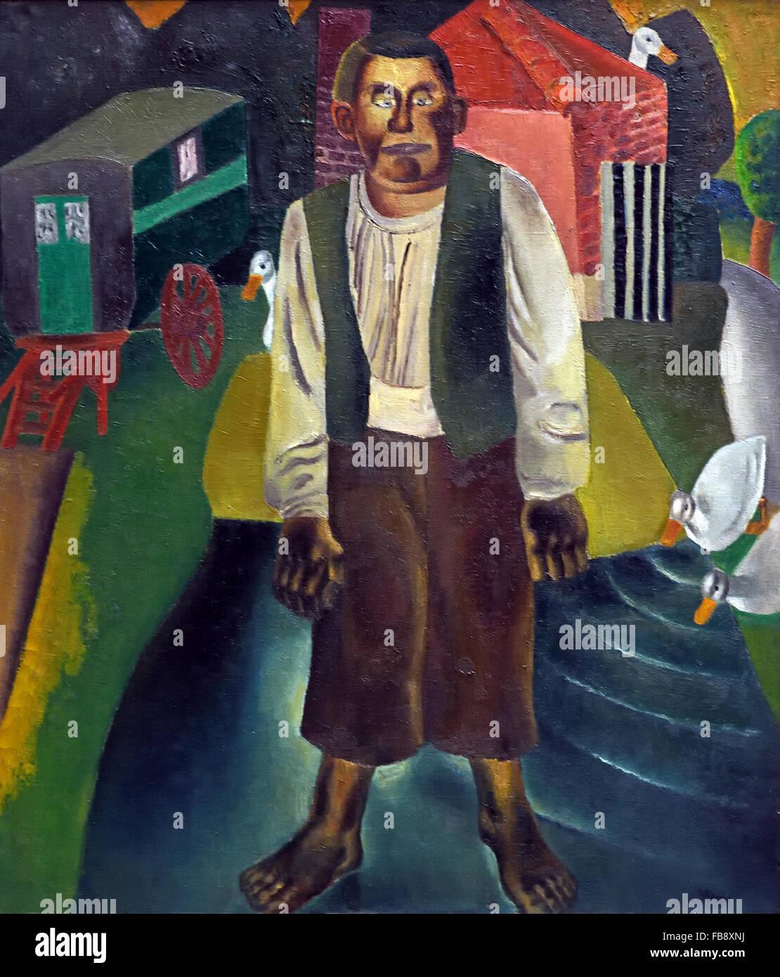 L'Idiot par l'Étang 1926 Frits Van den Berghe 1883 - 1939 peintre expressionniste belge Belgique flamande Photo Stock