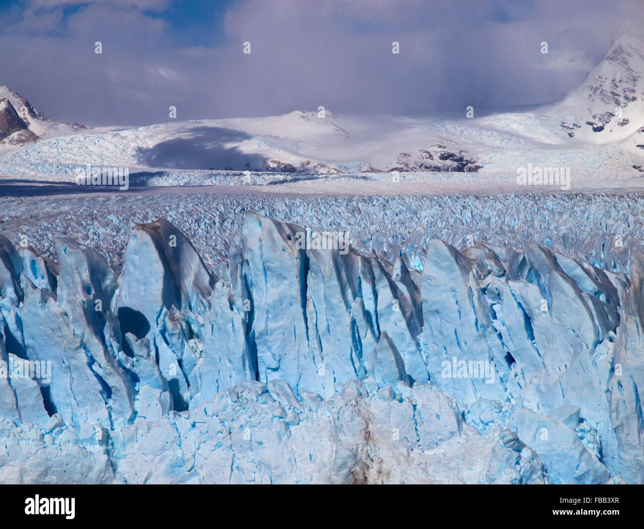 Face à la borne, Patagonie Perito Moreno Glacier Photo Stock
