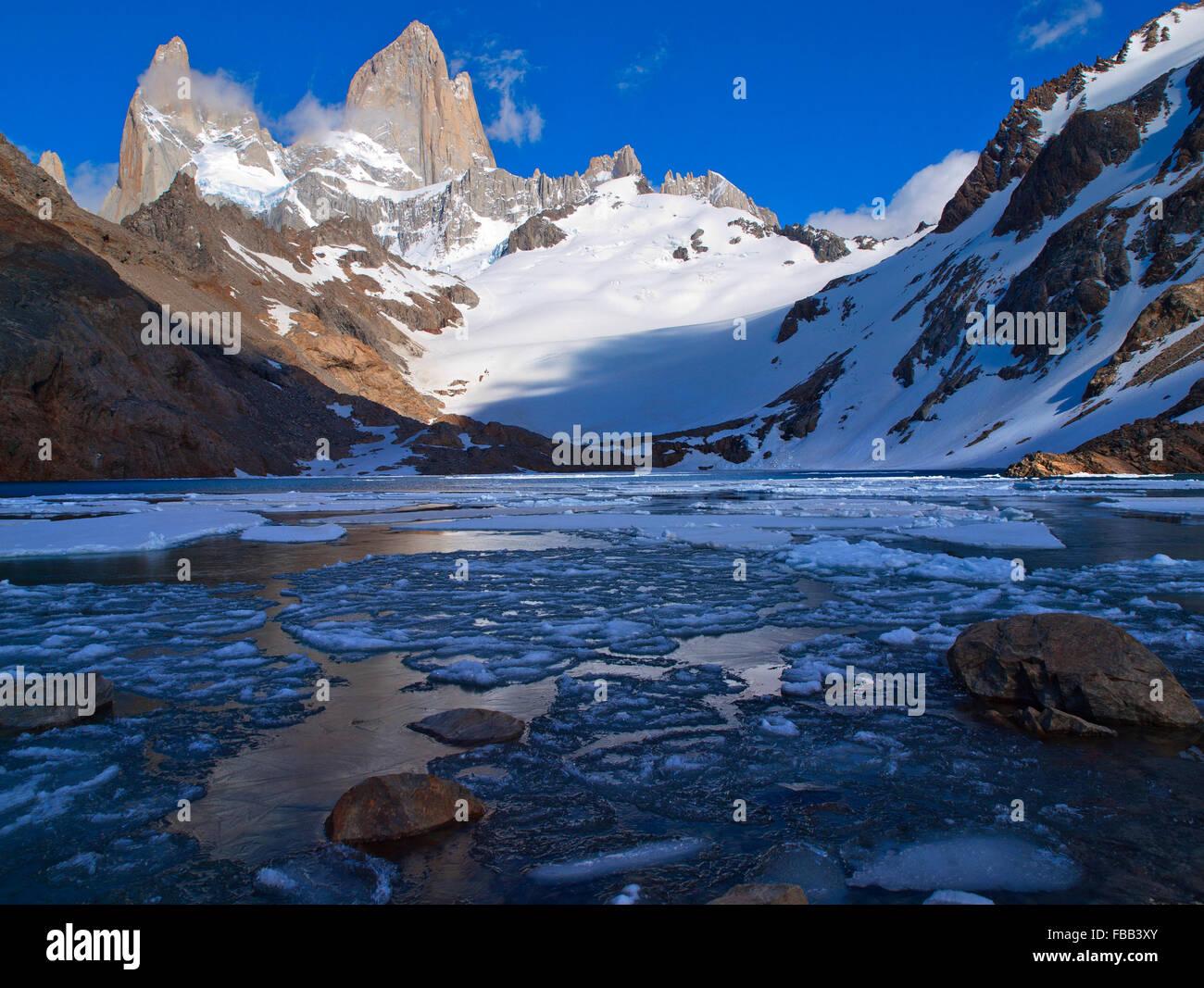Laguna de los Tres, Fitz Roy Patagonie Photo Stock