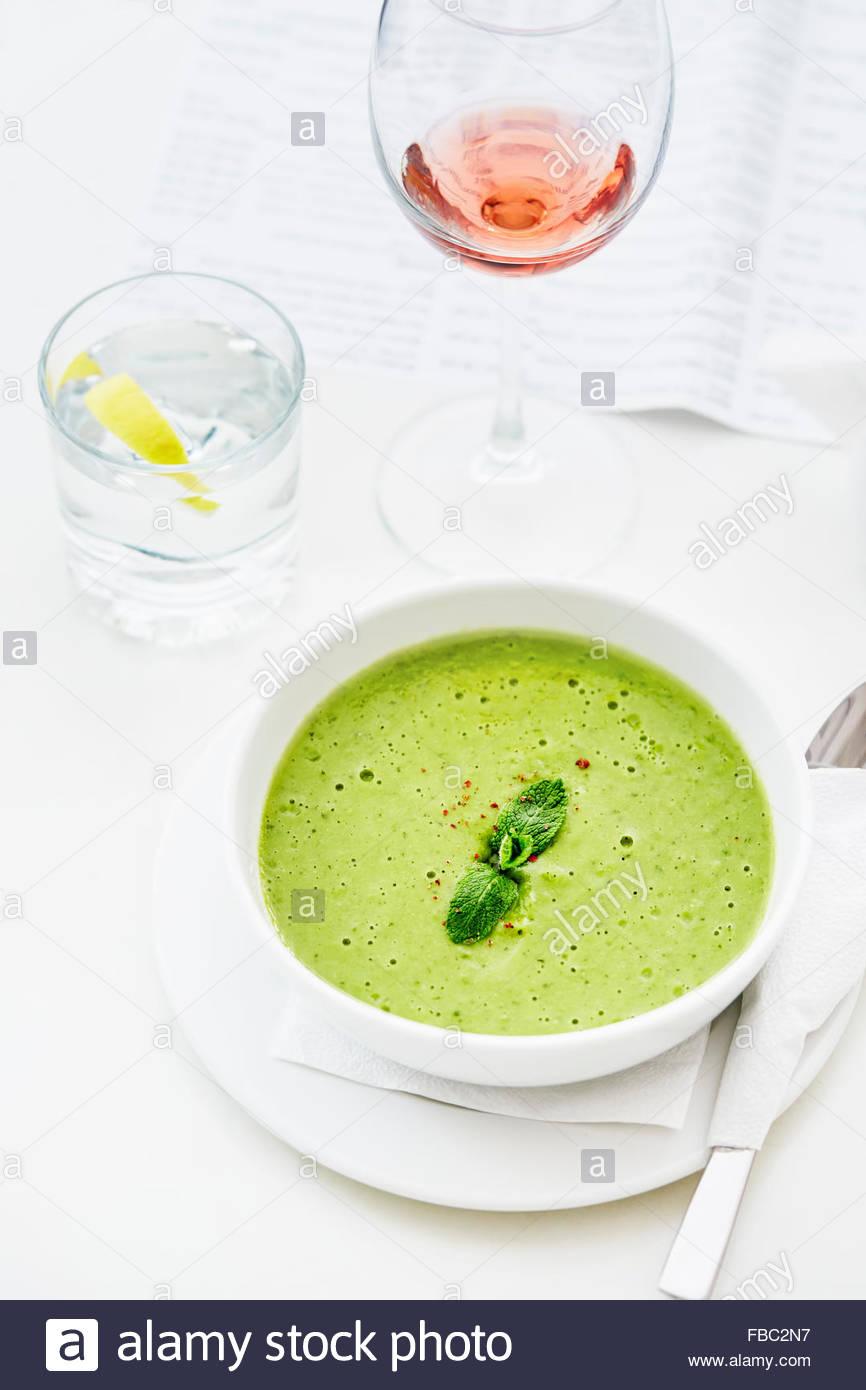Soupe aux pois Photo Stock