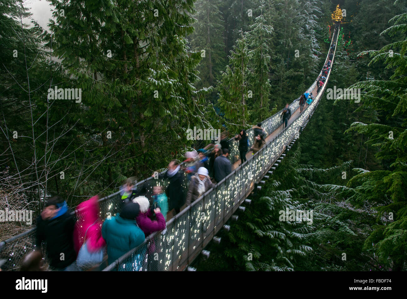 Capilano Suspension Bridge, Vancouver, British Columbia, Canada Banque D'Images