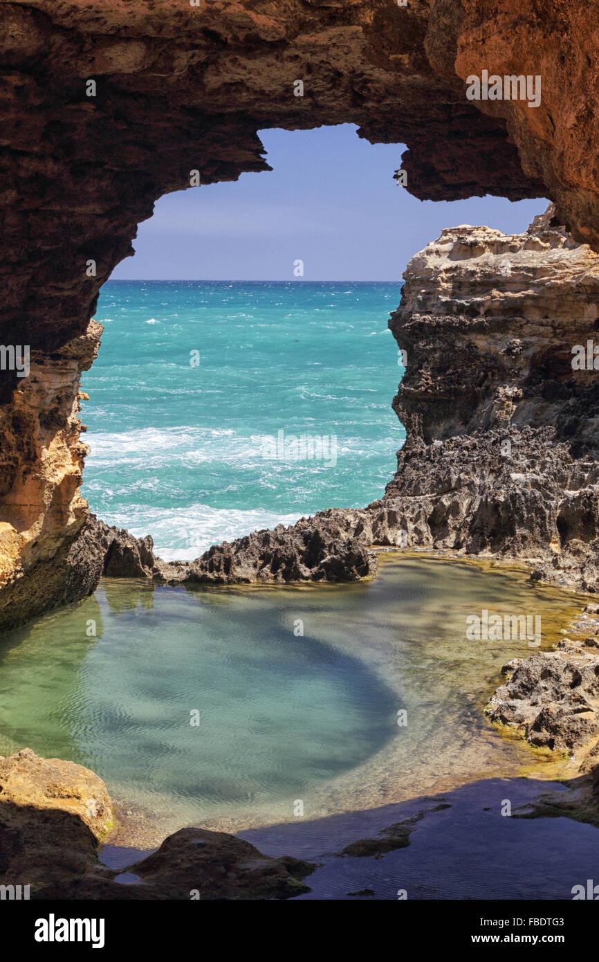 La grotte dans le parc national de Port Campbell à la Great Ocean Road, à Victoria, en Australie. Photo Stock