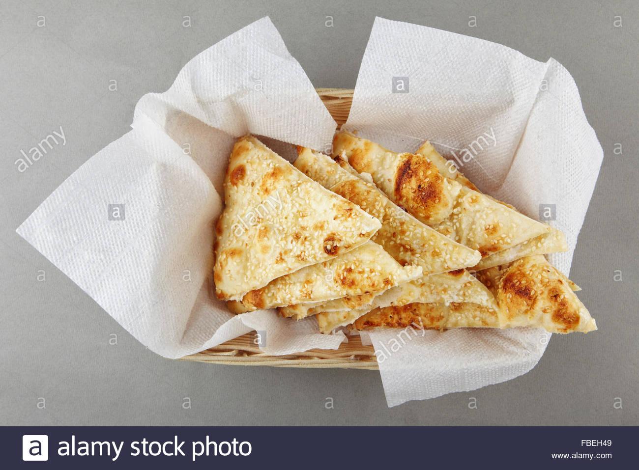 Graines de pain focaccia Photo Stock