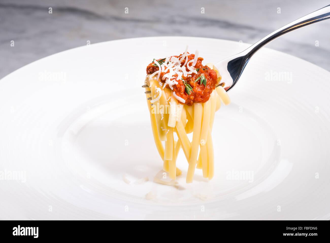 pâtes spaghetti Banque D'Images