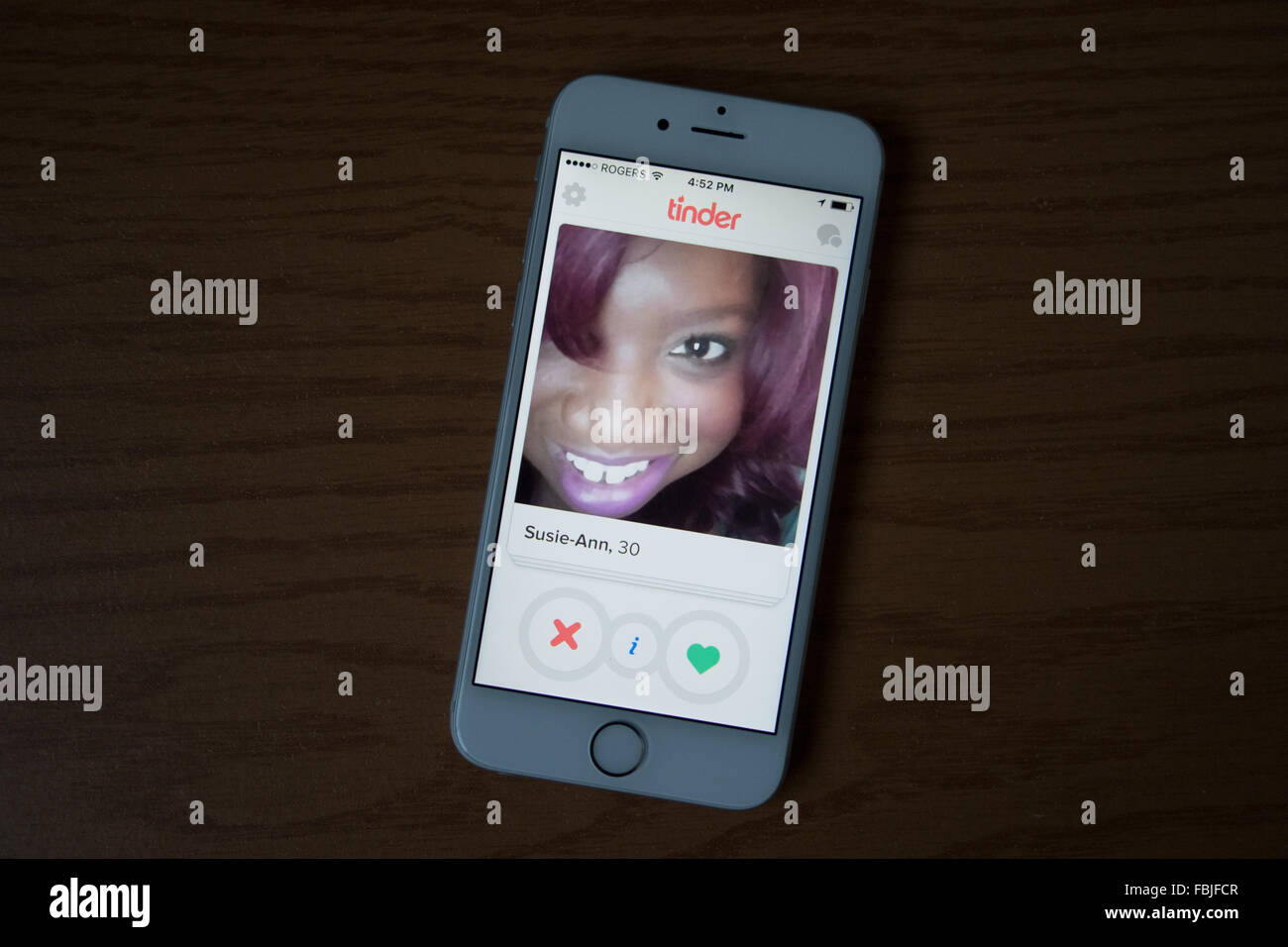 L'amadou dating app Photo Stock
