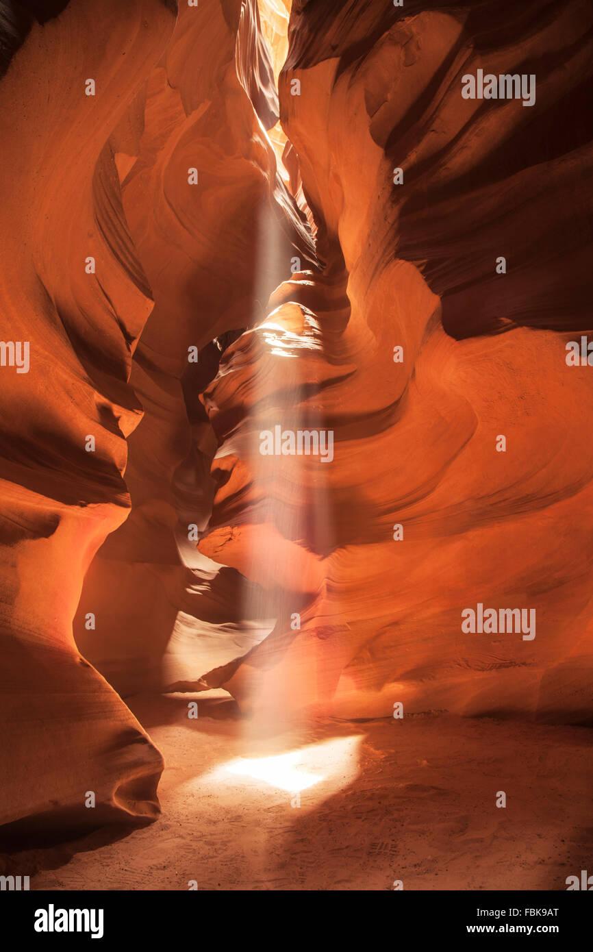 Upper Antelope Canyon Page en Arizona Photo Stock