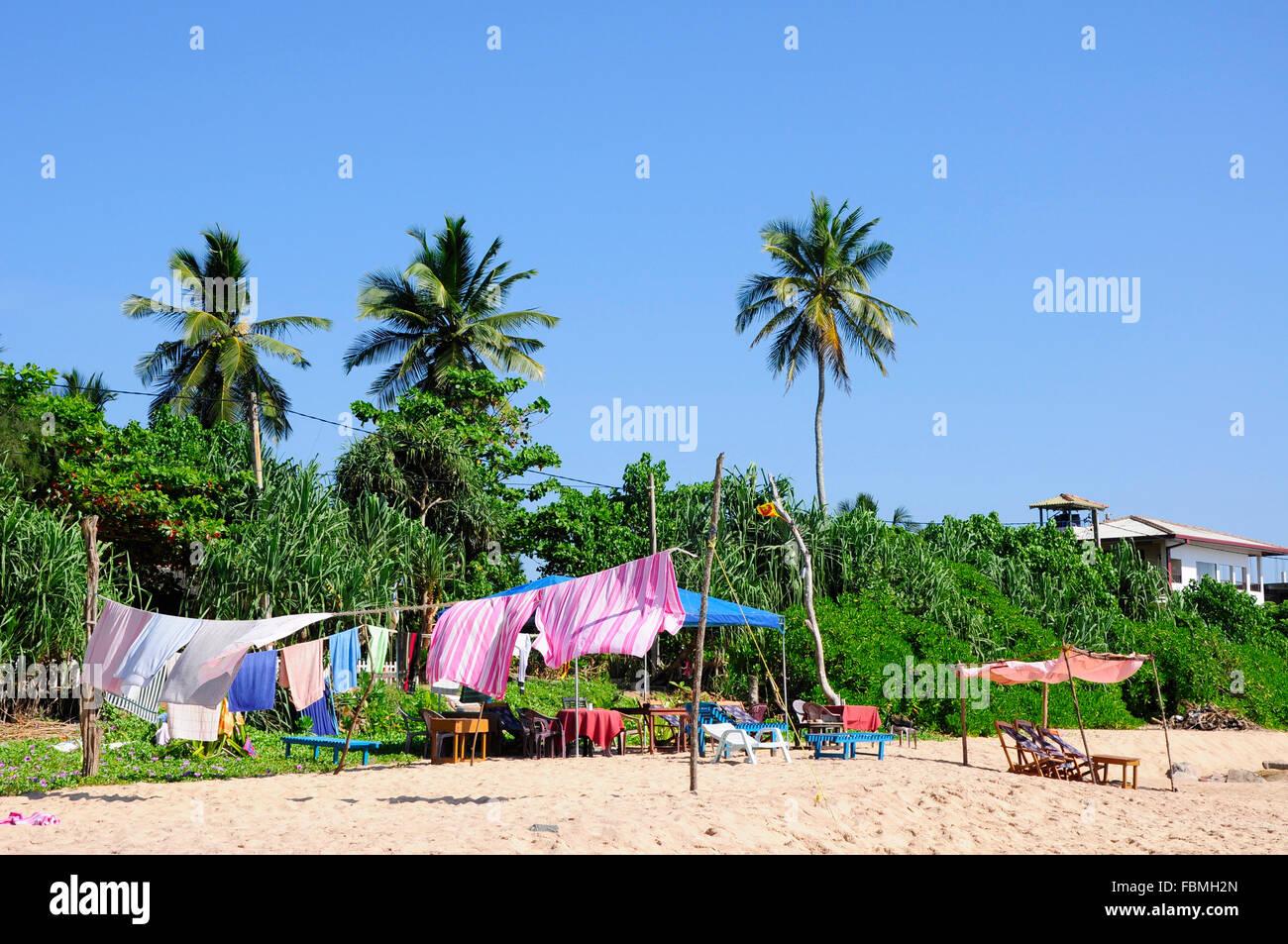 Jour de lessive sur la plage Photo Stock