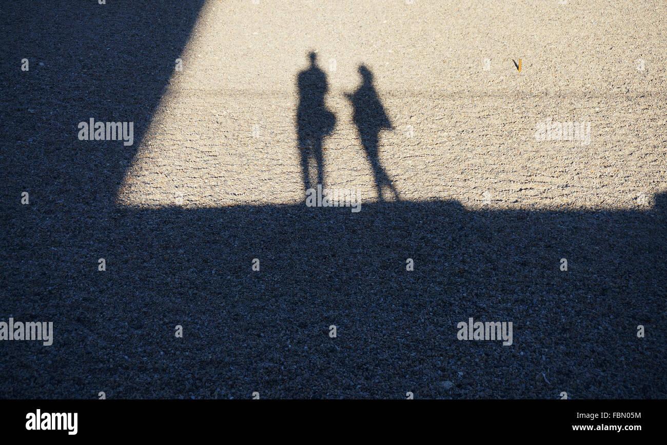 Ombre de personnes au sol Photo Stock