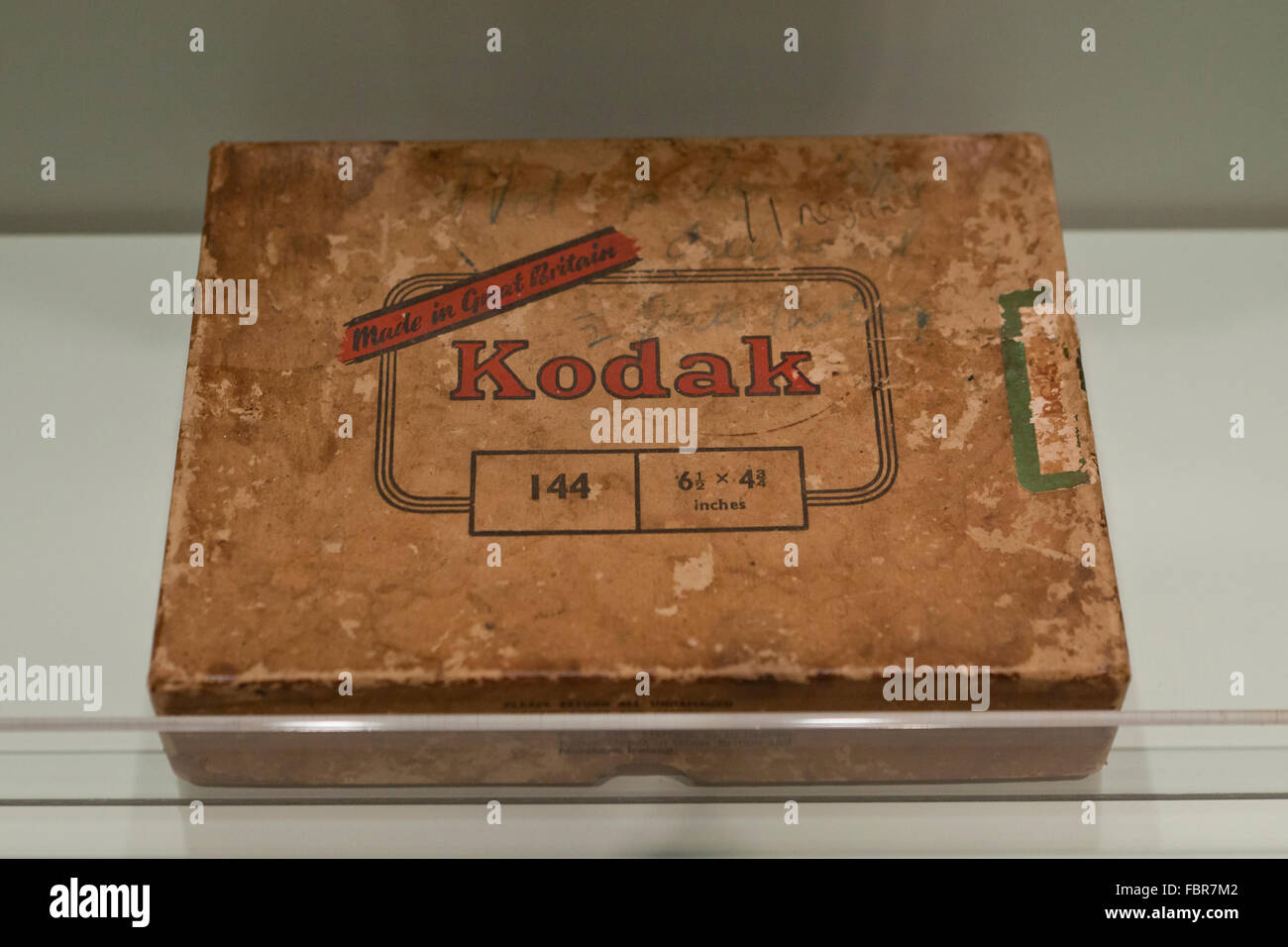 Kodak Vintage Négatif sur plaque de verre fort, vers 1937 Photo Stock