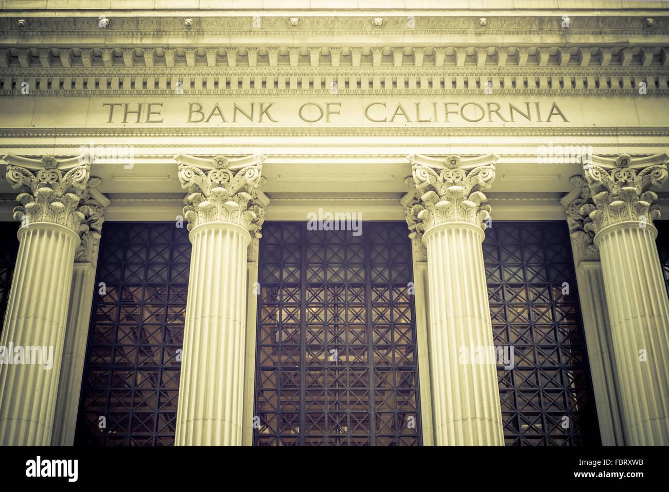 La Banque de Californie Photo Stock