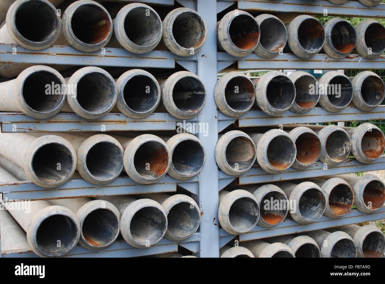 Les tuyaux de drainage Photo Stock