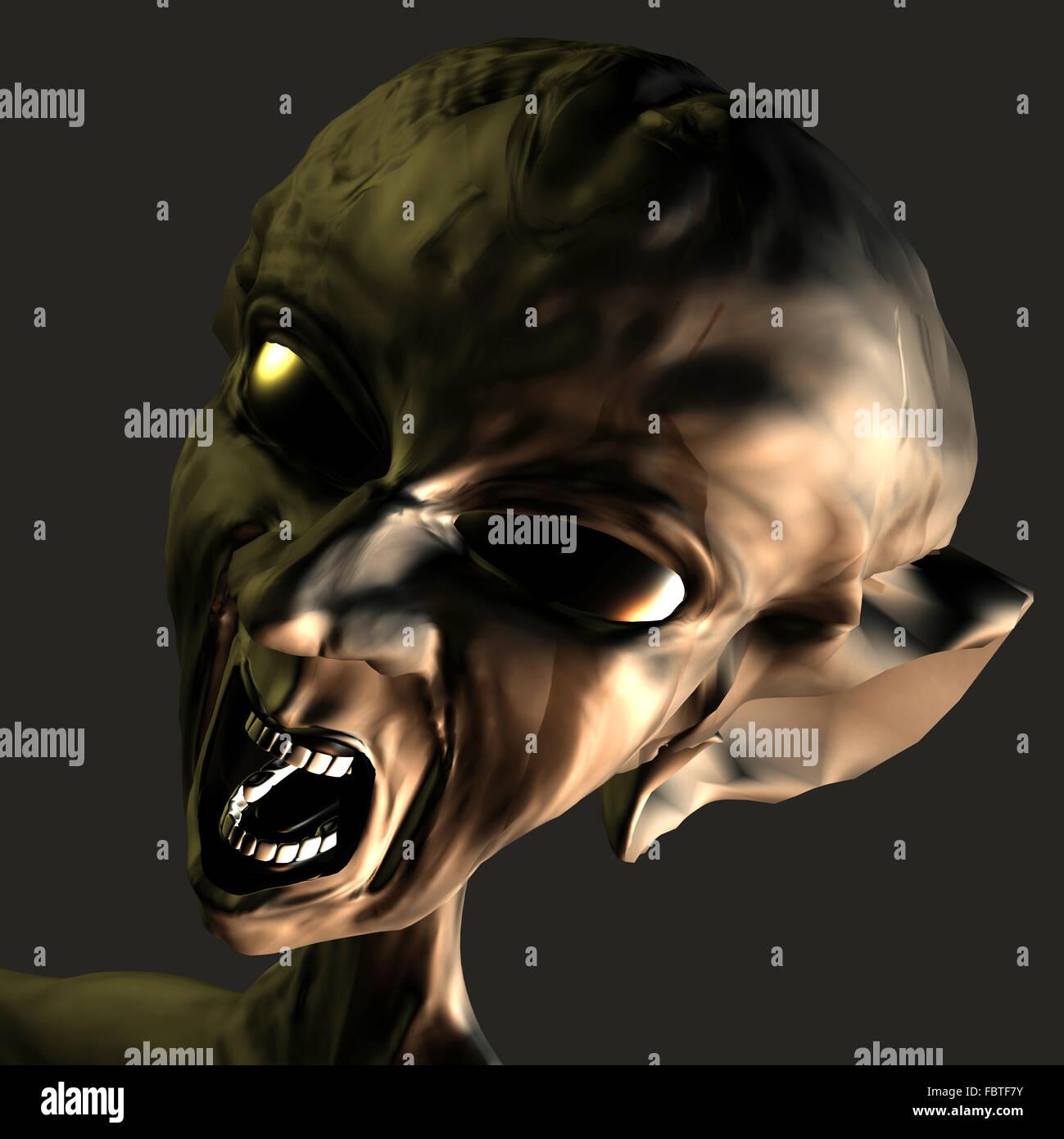 L'homme ou Alien Photo Stock