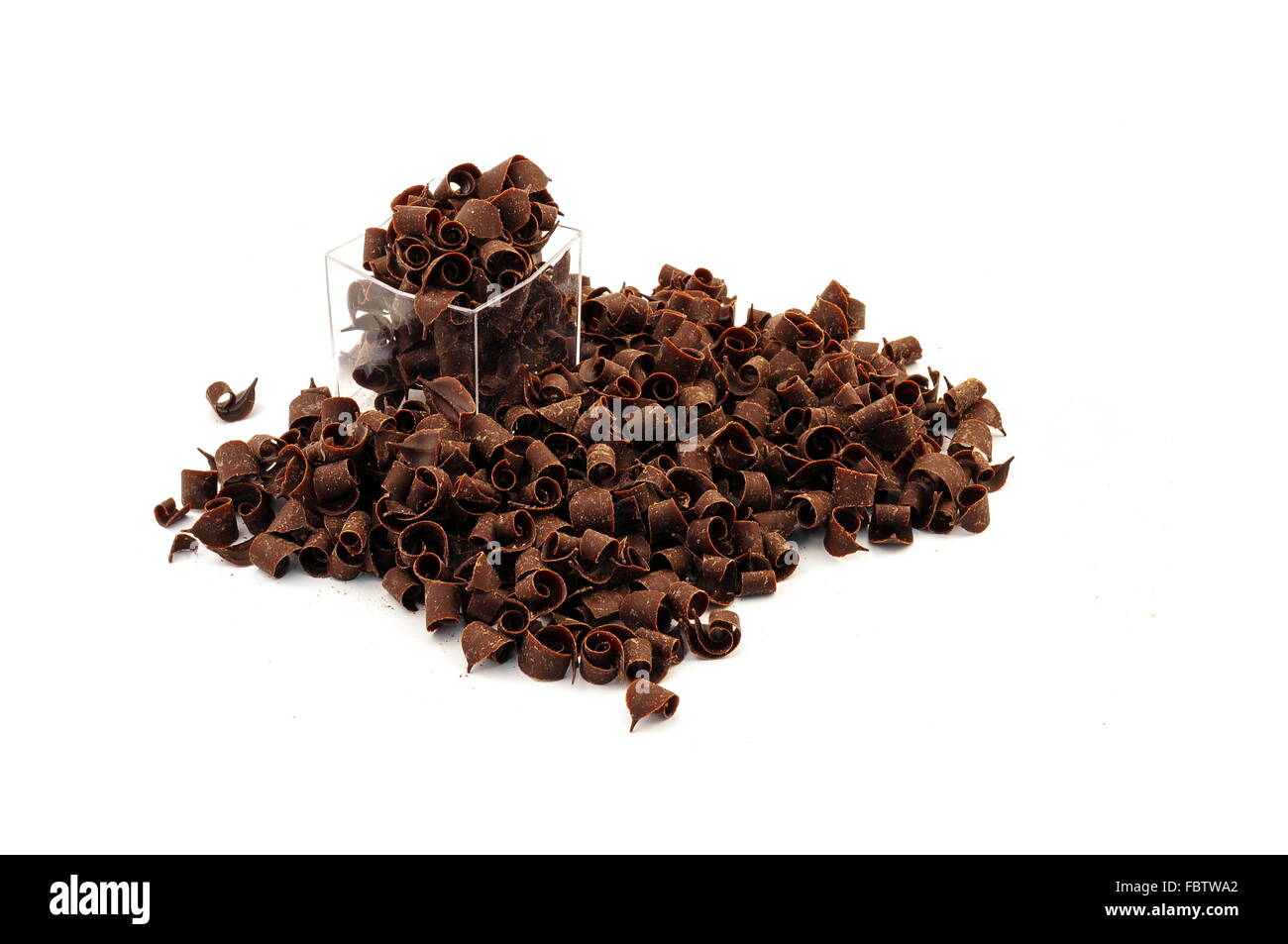 Copeaux de chocolat Photo Stock