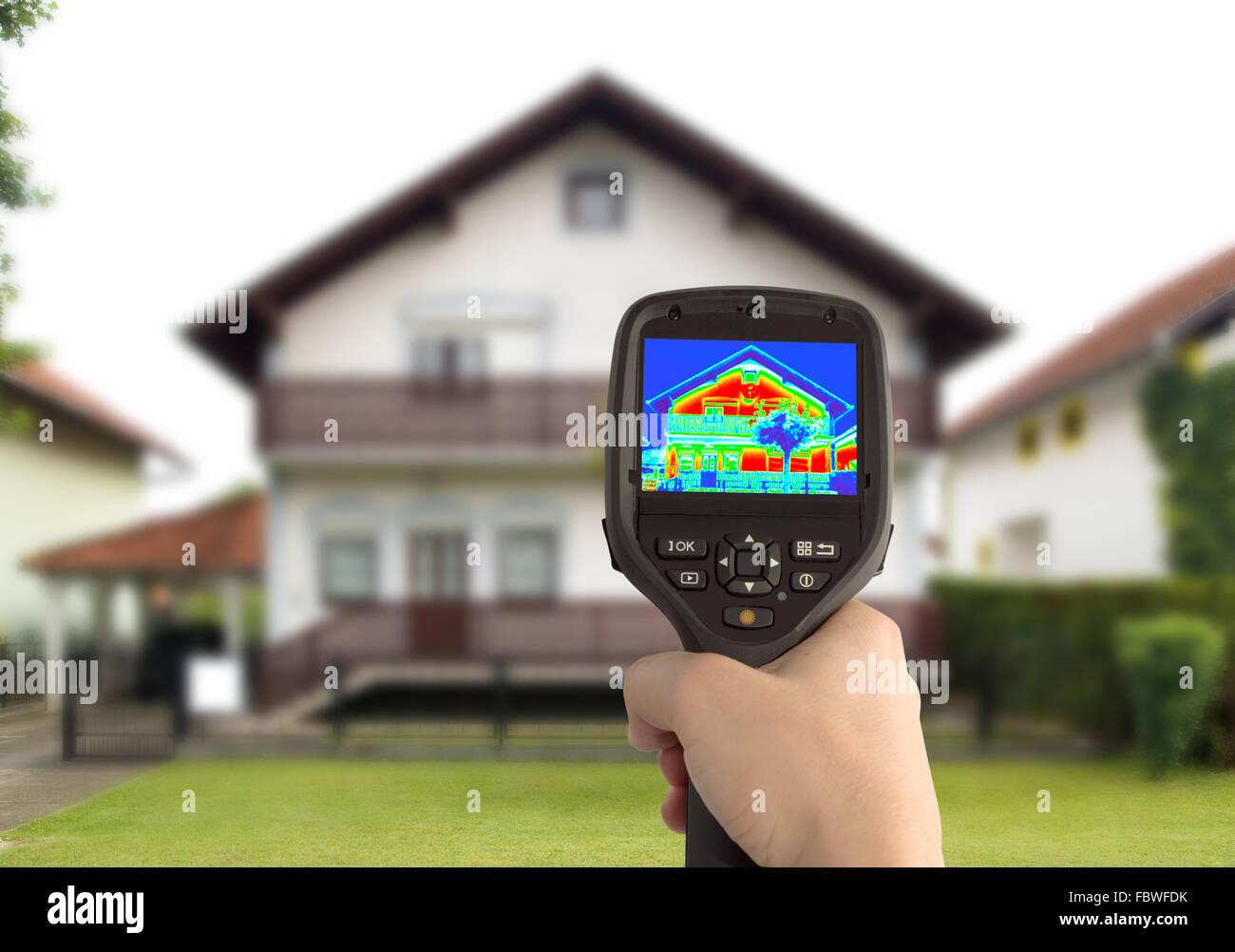 Image thermique de la chambre Photo Stock