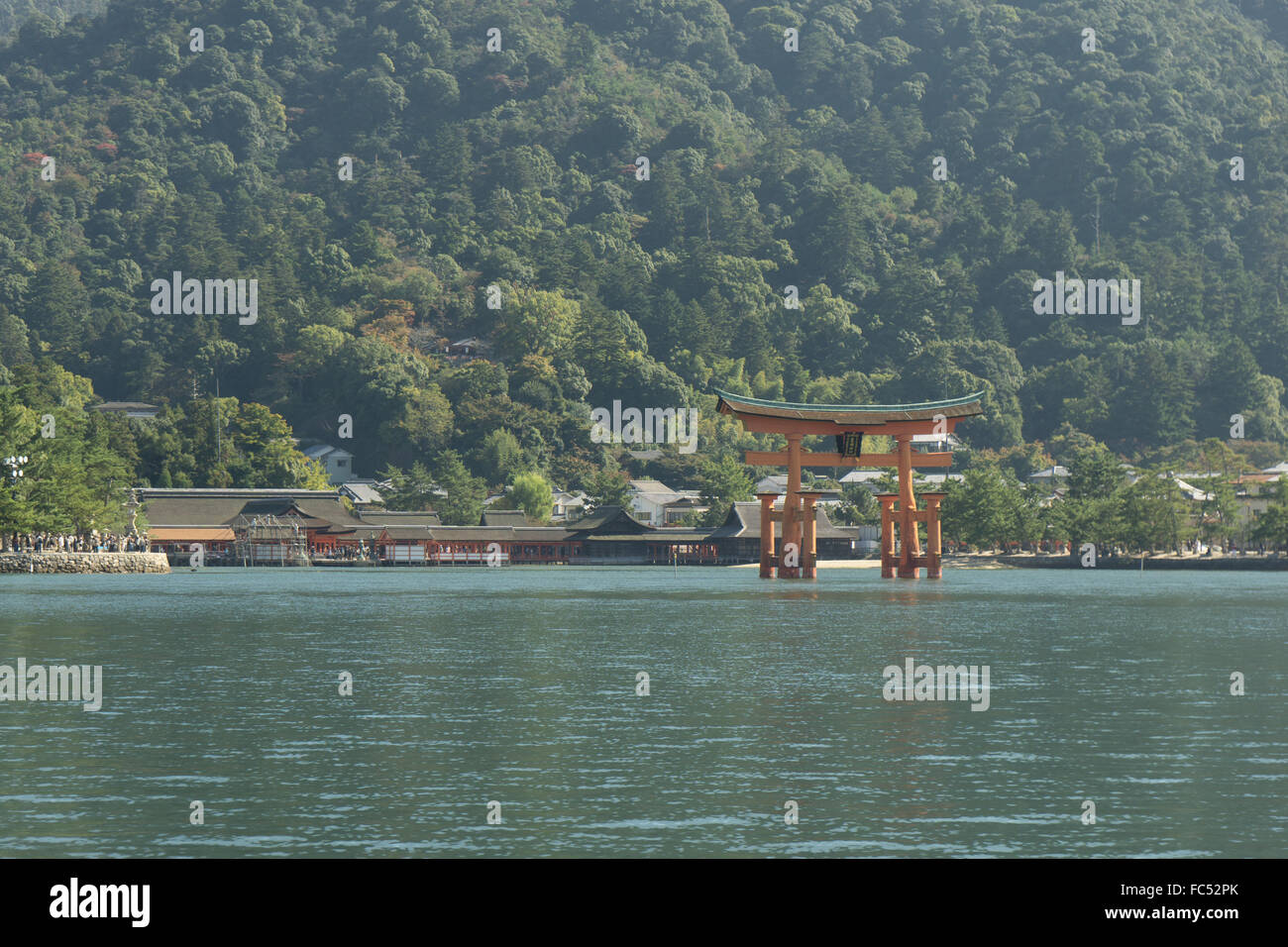 Le Grand Torii Miyajima Japon Photo Stock