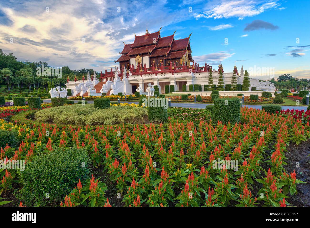 Jardin Ratchaphreuk , Chiang Mai , Thaïlande Photo Stock