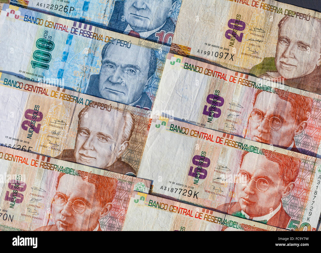 Monnaie Nuevo sol péruvien Photo Stock - Alamy